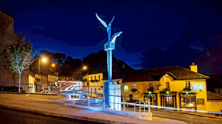 Public Space & Sculpture Westport by Town Architect Simon Wall, Architects Section, Mayo County Council. Photographer Michael McLaughlin
