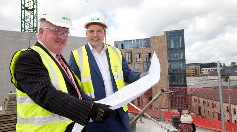 GSA and BAM Ireland on track to deliver the 296-bed residence by summer 2018