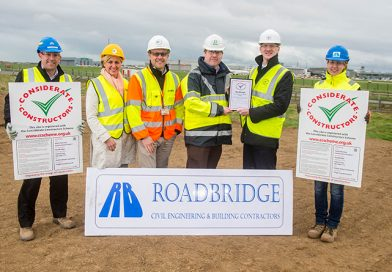 Roadbridge registers North Runway Construction Package 1 project with Considerate Constructors Scheme