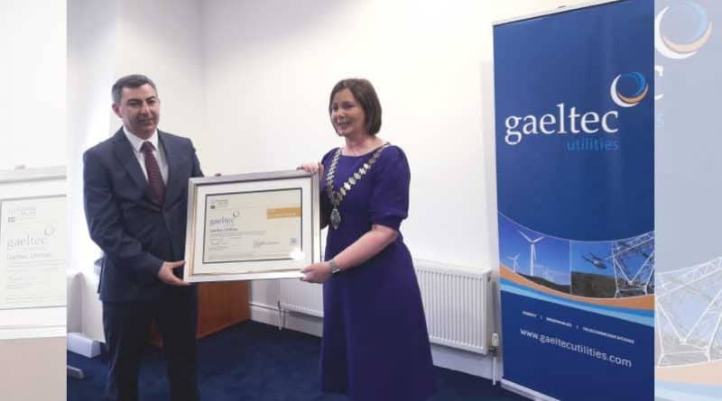 Gaeltec Utilities awarded Engineers Ireland CPD Accredited Employer Standard